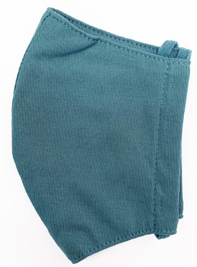接触冷感立体縫製洗えるマスク(Mサイズ)(ダルグリーン)MKMT003M-78