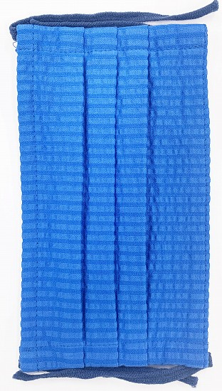 MGクールマックスワイヤー入ギャザー洗えるマスク(Mサイズ)(ブルー)MGMT000M-39