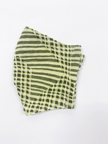 超抗菌加工ナノファイン×ジャガード立体縫製洗えるマスク(SSサイズ)(マスタード)MKTT007M-72C