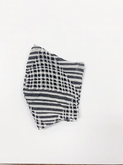 ナノファイン×ジャガード立体縫製洗えるマスク(Mサイズ)(クロ)MKMT007M-50C