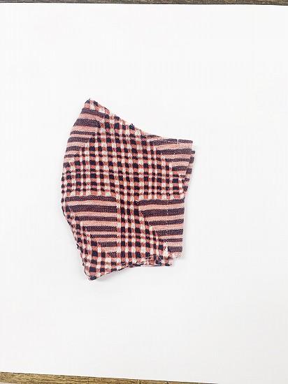 ナノファイン×ジャガード立体縫製洗えるマスク(Mサイズ)(朱赤)MKMT007M-53C