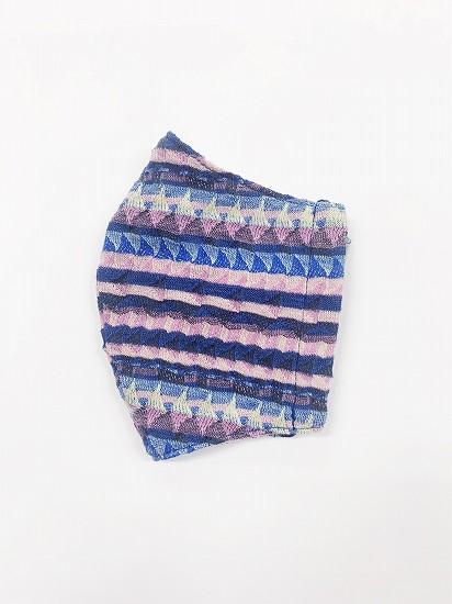 ナノファイン×ジャガード立体縫製洗えるマスク(Lサイズ)(ピンク)MKLT007M-24E