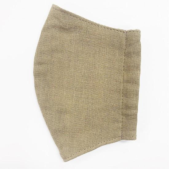 超抗菌加工ナノファイン加工綿100%立体縫製洗えるマスク(Sサイズ)(キャメル)MKST002M-71