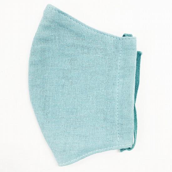 超抗菌加工ナノファイン加工綿100%立体縫製洗えるマスク(Sサイズ)(ブルーグレー)MKST002M-79