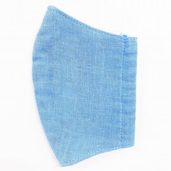 超抗菌加工ナノファイン加工綿100%立体縫製洗えるマスク(Sサイズ)(ブルー)MKST002M-39