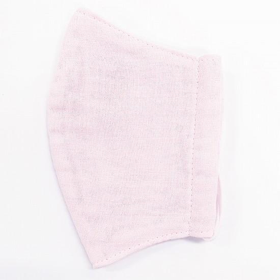 超抗菌加工ナノファイン加工綿100%立体縫製洗えるマスク(Sサイズ)(ライトピンク)MKST002M-14