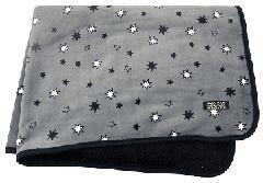 ベロアブランケット(ダークグレー多角星柄) PBLKT008Z-40