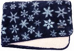 もこもこブランケット(雪柄) PBLKT023Z-50