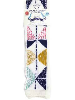 【UV・冷感加工】 60cmロング丈 アームカバー(アイボリー) ACLT124R-21