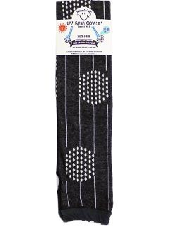 【UV・冷感加工】 60cmロング丈 アームカバー(クロ) ACLT118R-50