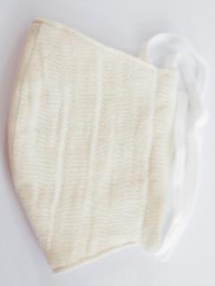 MK綿100ガーゼ4重構造立体縫製洗えるマスク(Sサイズ)(アイボリー)MKST001M-21
