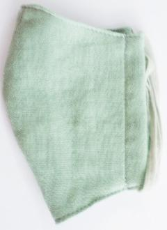 MK綿100ガーゼ4重構造立体縫製洗えるマスク(Sサイズ)(ソフトグリーン)MKST001M-68