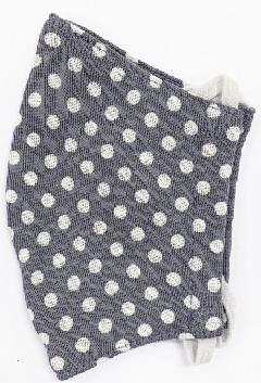 接触冷感水玉柄洗えるマスク(Mサイズ)(グレー)MKMT004M-30