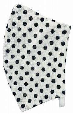 接触冷感水玉柄洗えるマスク(Mサイズ)(オフホワイト)MKMT004M-11