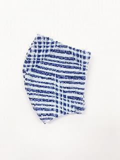 ナノファイン×ジャガード立体縫製洗えるマスク(Mサイズ)(ネイビーブルー)MKMT007M-89C