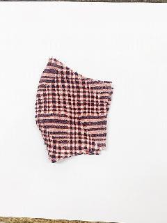 超抗菌加工ナノファイン×ジャガード立体縫製洗えるマスク(Mサイズ)(朱赤)MKMT007M-53C