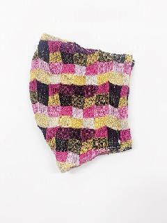 ナノファイン×ジャガード立体縫製洗えるマスク(Lサイズ)(ローズピンク)MKLT007M-44B