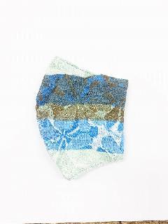 ナノファイン×ジャガード立体縫製洗えるマスク(Lサイズ)(カーキ)MKLT007M-77F
