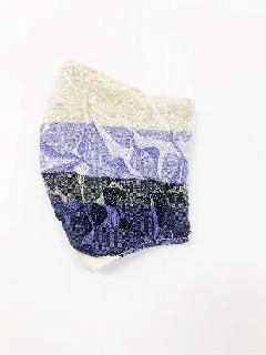 ナノファイン×ジャガード立体縫製洗えるマスク(Lサイズ)(バイオレット)MKLT007M-36F