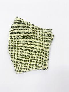 ナノファイン×ジャガード立体縫製洗えるマスク(Lサイズ)(マスタード)MKLT007M-72C