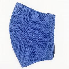 ナノファイン加工綿100%立体縫製洗えるマスク(Lサイズ)(ネイビーブルー)MKLT002M-89