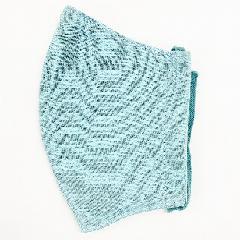 ナノファイン加工綿100%立体縫製洗えるマスク(Lサイズ)(ブルーグレー)MKLT002M-79