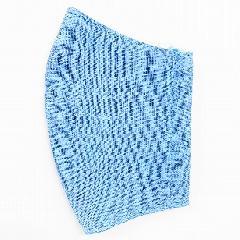 ナノファイン加工綿100%立体縫製洗えるマスク(Lサイズ)(ブルー)MKLT002M-39