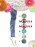 【sale】綿デニム地ムラ染め 10分丈スパッツ (ベージュ)SP0160J-41