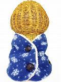 フロントボタン付き裏地ボアフリースネックウォーマー(雪柄ブルー) WNBFT020R-39