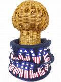 サイドボタン付き 裏地ボア ニットネックウォーマー(アメリカンLOVE SMILE ダークグレー) WNBSA007R-40