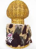 サイドボタン付き ボアネックウォーマー(迷彩柄 カーキ) WNBST012R-77