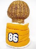 サイドボタン付き 裏地ボア ダウンネックウォーマー(86ワッペン付 ミカン) WNBSA014R-23
