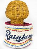 サイドボタン付き 裏地ボア ニットネックウォーマー(RAINBOWロゴ アイボリー) WNBSA018R-21