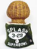 サイドボタン付き 裏地ボア ニットネックウォーマー(ラグビーフロッキープリント オリーブ) WNBSA020R-87