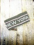 2ラインニューヨークロゴ入りターバン (グレー) AHBA018R-30