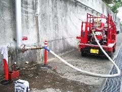 立川市福祉施設 連結送水管耐圧試験