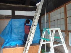 千葉県香取市 築180年古民家 清掃作業風景