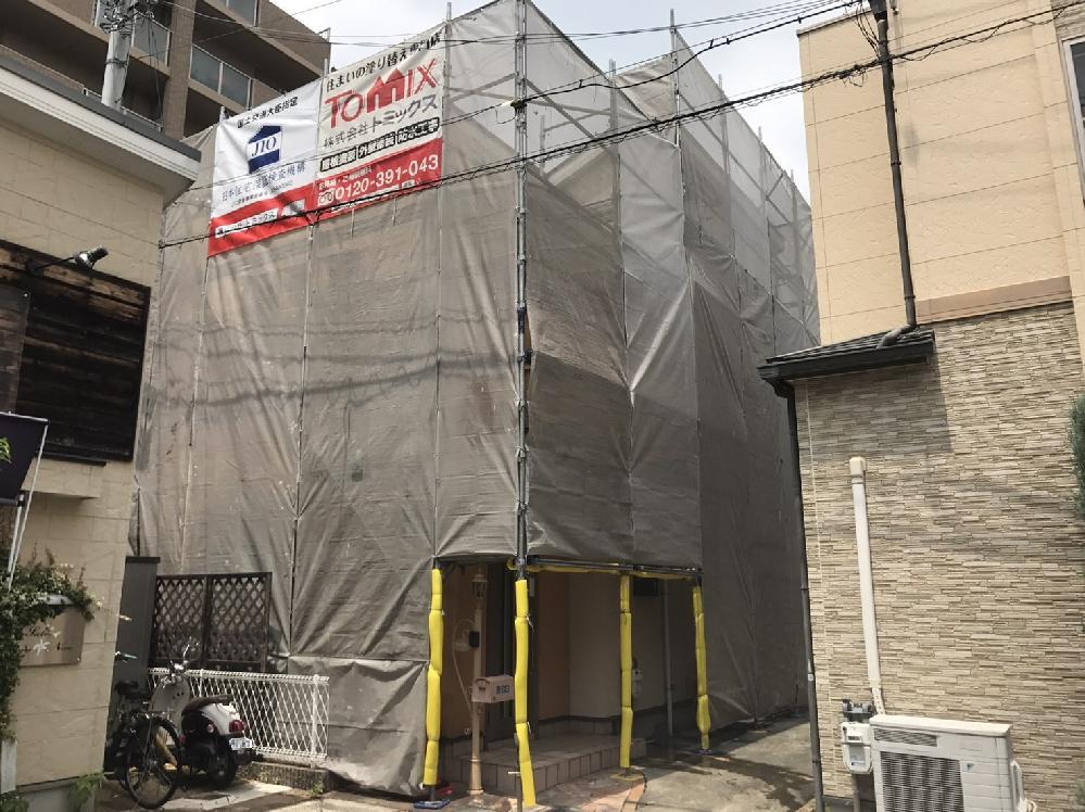 外壁・屋根塗装 富田林市 塗装の様子