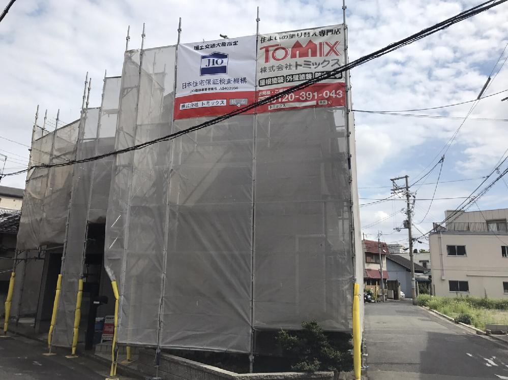 外壁・屋根塗装工事 堺市 塗装の様子