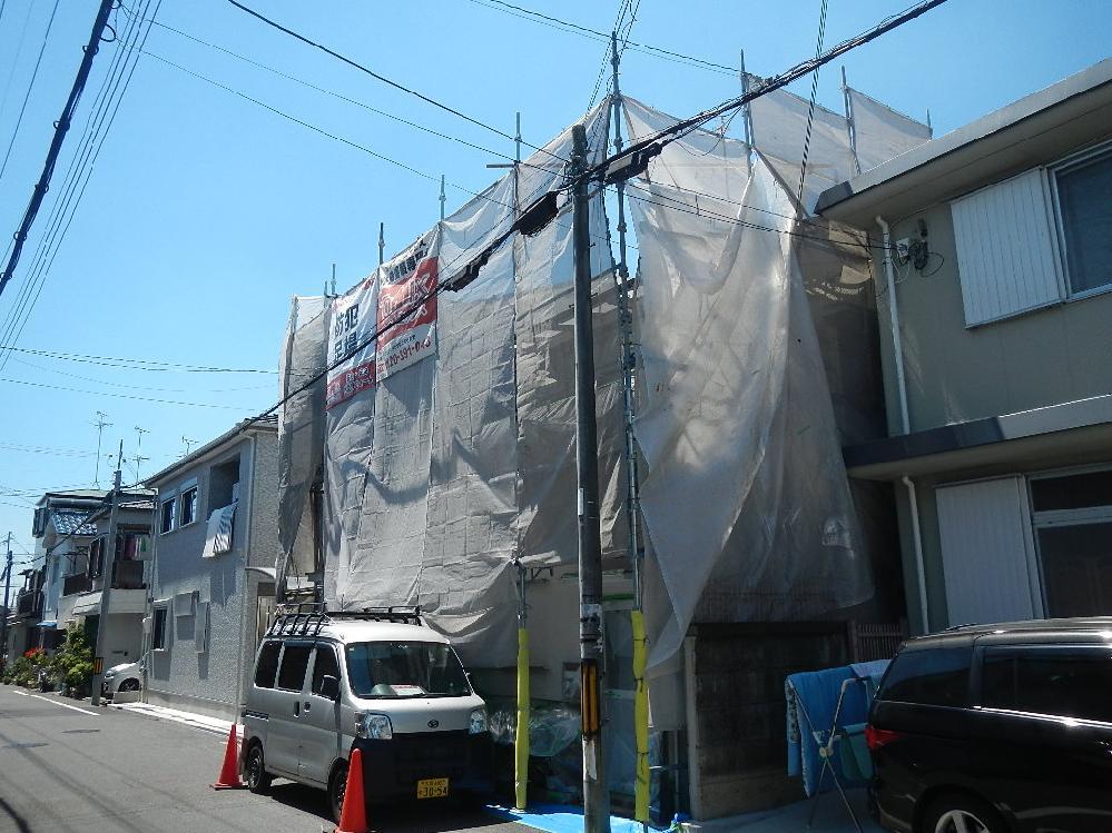外壁・屋根塗り替え 堺市東区 塗装の様子