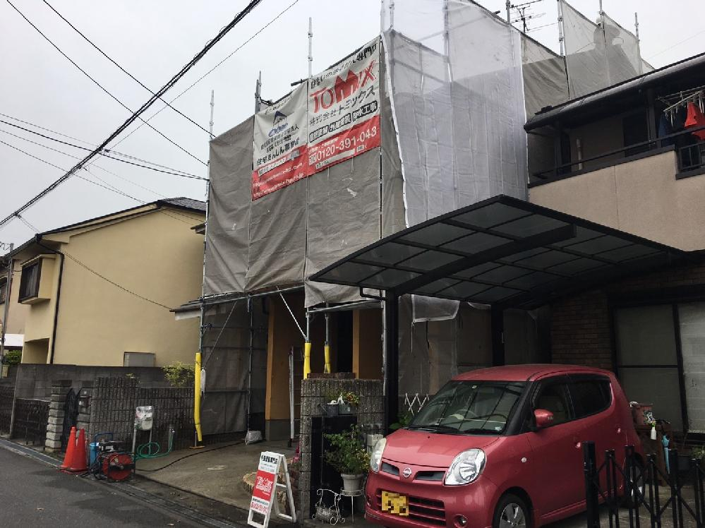 パーフェクトトップで塗り替え 藤井寺市 塗装の様子