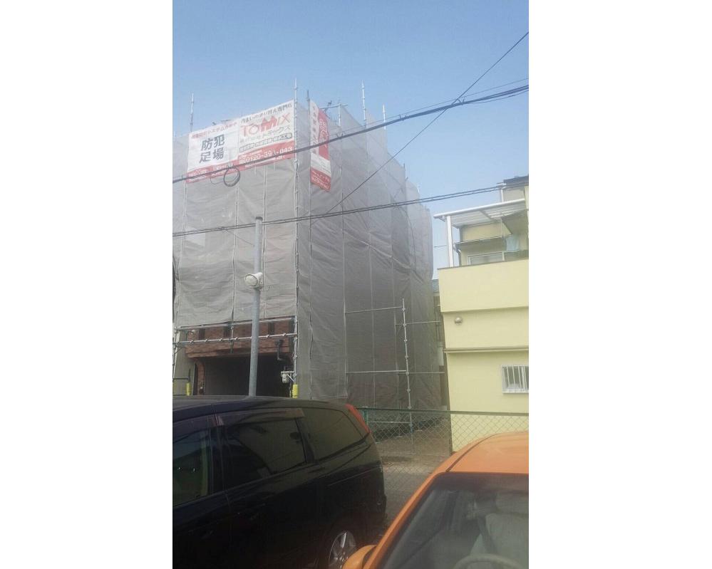 外壁・屋根塗装工事 大阪市大正区 塗装の様子