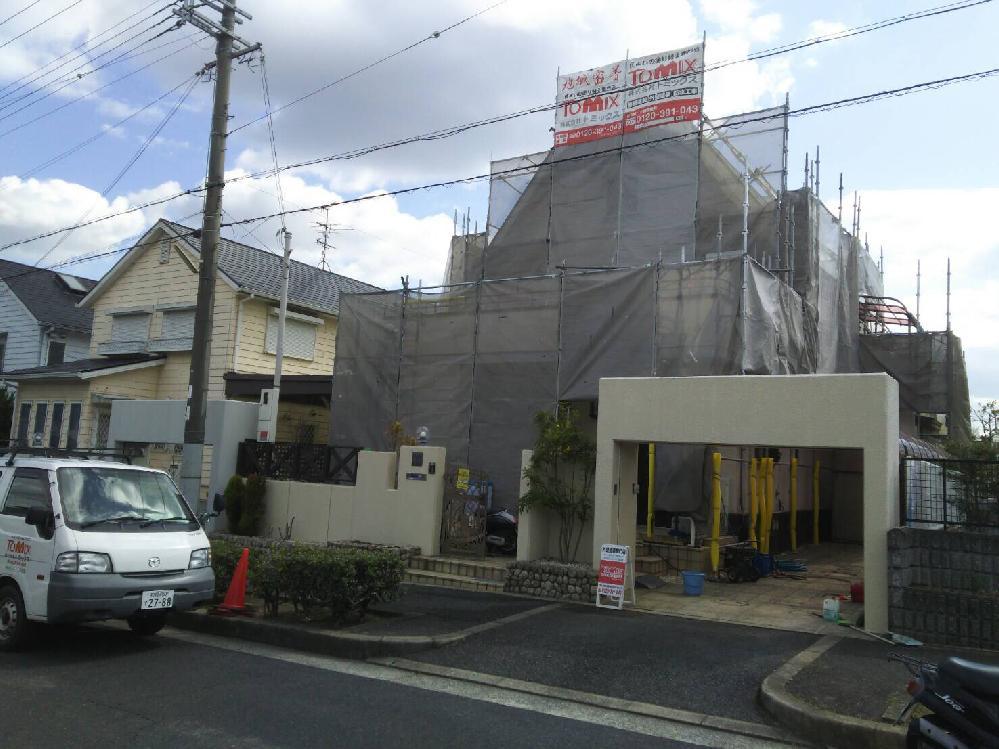 外壁・屋根塗装工事 南河内郡太子町 塗装の様子