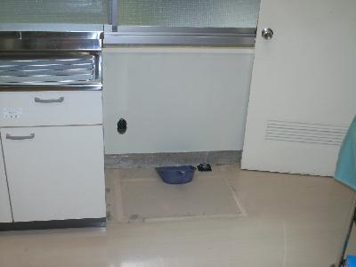 流し台と扉までのスペース。