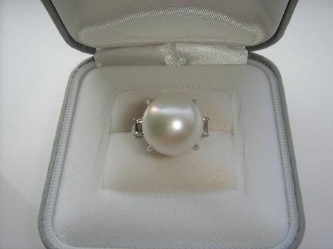 南洋白真珠リング76352