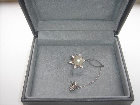 アコヤ真珠タイピン80695