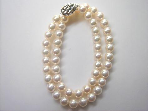 オーロラ花珠真珠ネックレス8.5〜8.0 103963