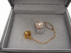 アコヤ真珠タイピン95524