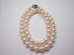 花珠真珠ネックレス9.0−8.5 125828
