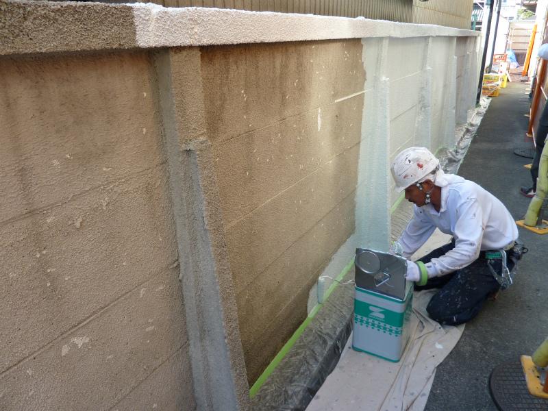 万代塀塗装